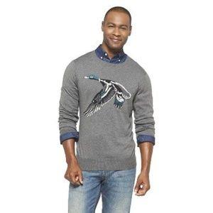 Merona Men's Duck Print Crewneck Sweater